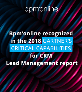 "Bpm'online reconnu ""Critical Capabilities for CRM Lead Management"" dans le rapport Gartner 2018"